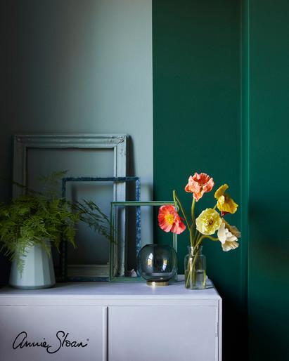 Jewel-toned-bedroom-Amsterdam-Green-Duck