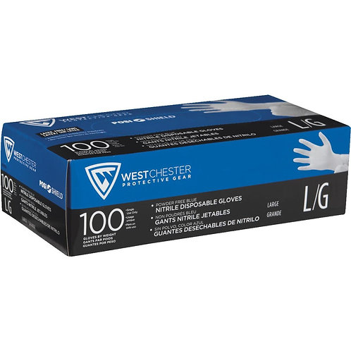 West Chester Nitrile Disposable Gloves Box Of 100