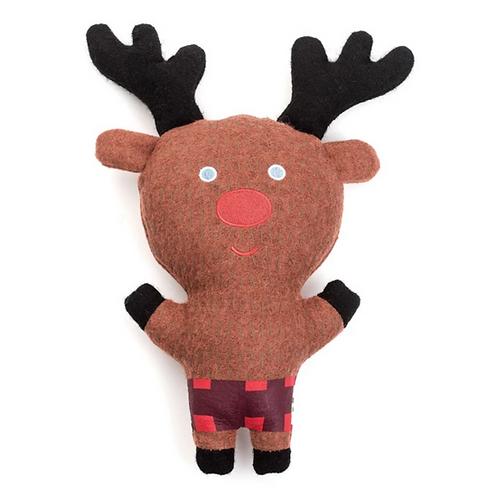 """Jax & Bones Reindeer Dog Squeak Toy 11"""""""