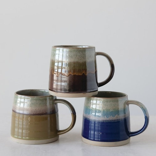 Ceramic Mug With Reactive Glaze