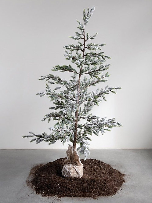 """Faux Tree With Ice Finish 60""""H"""