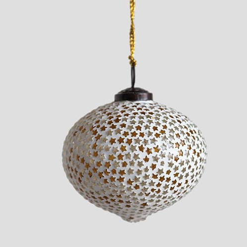 Glass Ornament With Star Mosaic