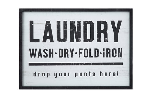Wooden Laundry Room Sign