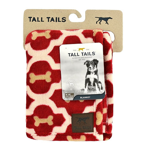 "Tall Tails Dog Blanket 40"" x 60"" Red Bone"