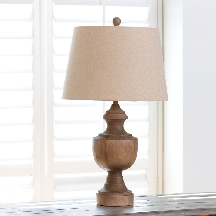 Wooden Urn Finial Lamp