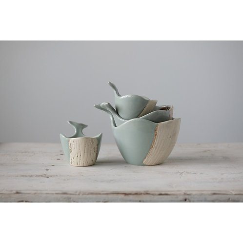 Ceramic Whale Measuring Cup Set