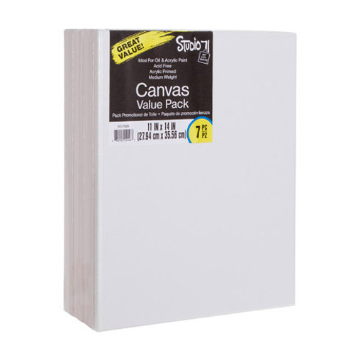 Stretched Canvas Value Pack 11x14 White (7 Pack)