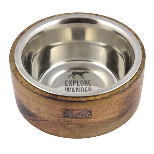 Wood Dog Bowl