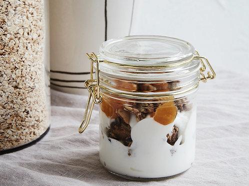 Glass Storage Jar With Gold Lid