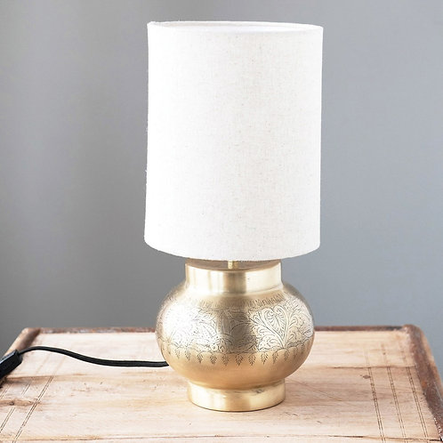 Metal Lamp With Linen Shade