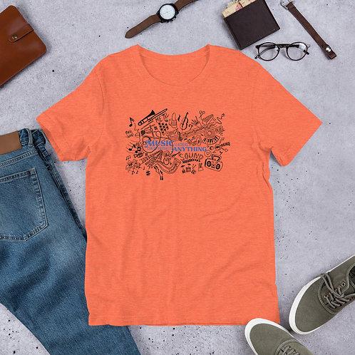 Music Teachers can do virtually Anything (Orange) T-Shirt