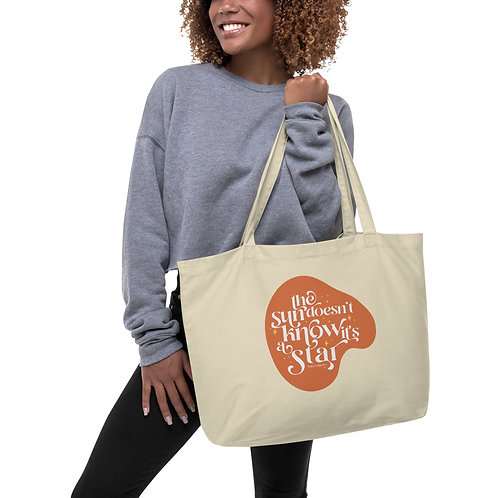 Sun is A Star Large organic tote bag
