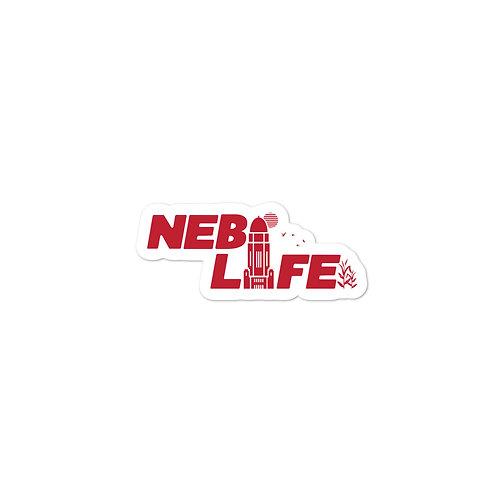 Nebraska Life Sticker (Red)