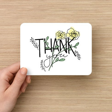 Handrawn and handwritten Thank You Card design