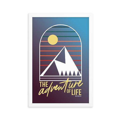 Adventure of Life White Framed Poster