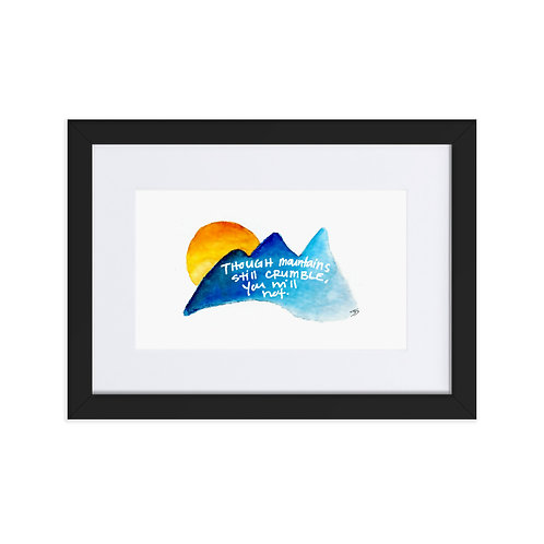 Mountain Grace Framed Poster With Mat