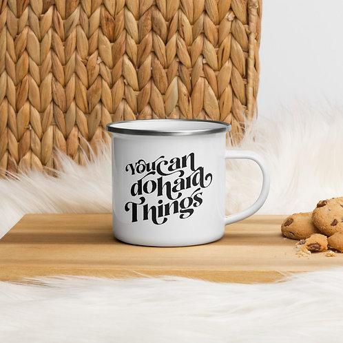 Hard Things Enamel Mug