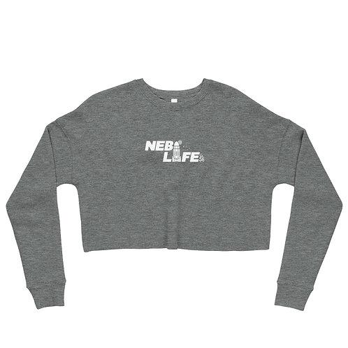 Nebraska Life Crop Sweatshirt (White)
