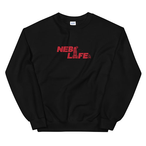 Nebraska Life Crew Neck (Red)