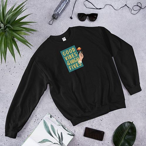 Good Vibes & High Fives Crew Neck Sweatshirt