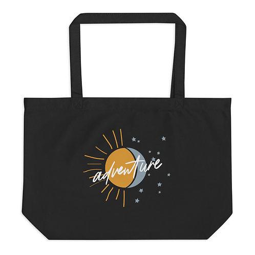 Sun & Moon Large organic tote bag