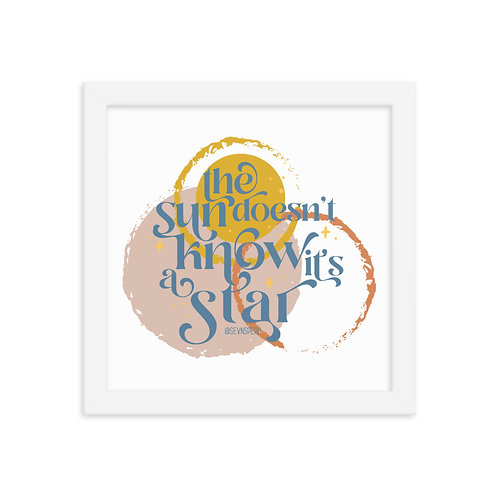 Sun is a Star Framed Print