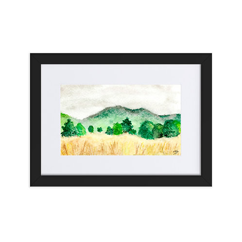 Land and Sky  Framed Poster With Mat