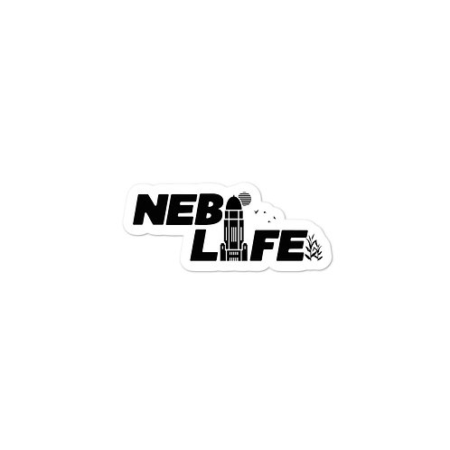 Nebraska Life Sticker (Black)