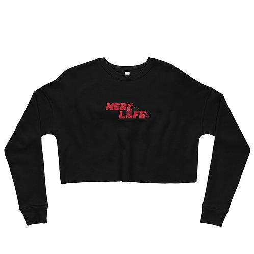 Nebraska Life Crop Sweatshirt (Red)