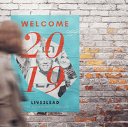 'Welcome' poster for the L2L event.