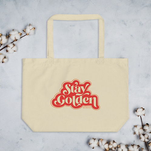 Stay Golden Large organic tote bag