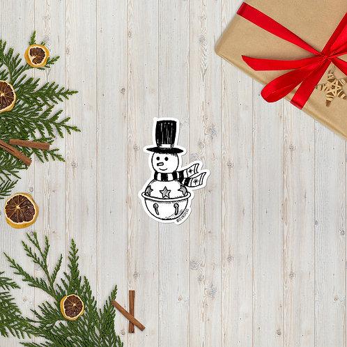 Jingle Bell Snowman Sticker