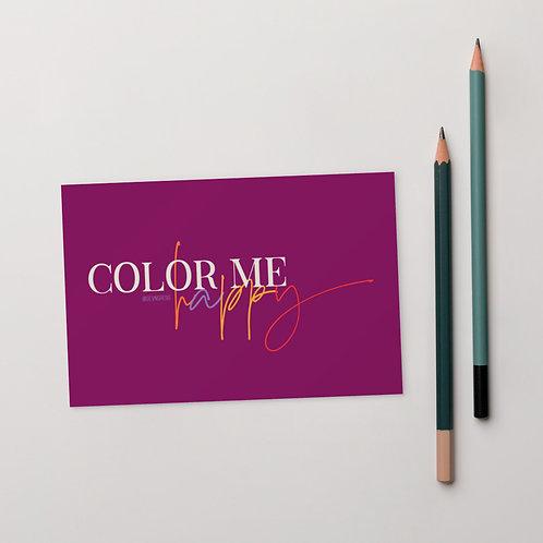 Color Me Happy Postcard