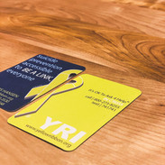 Front and Back design for a Suicide Prevention non-profit, Yellow Ribbon. This business card was designed for the leader of a local chapter in Nebraska.  *The Yellow Ribbon Logo was designed by another agency.