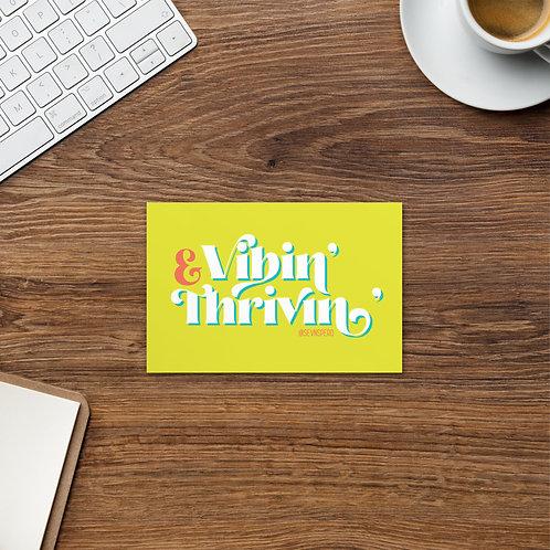Vibin' & Thrivin' Postcard