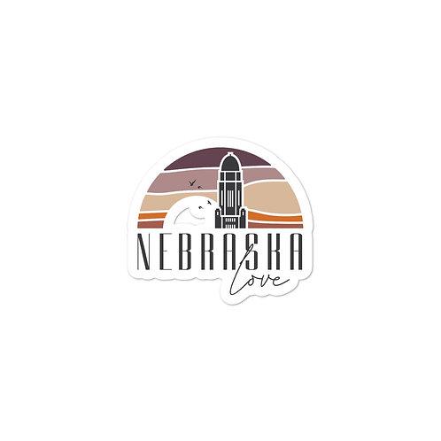 Nebraska Love Sticker