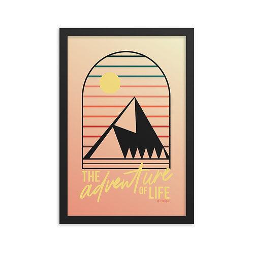 Adventure of Life Black Framed Poster