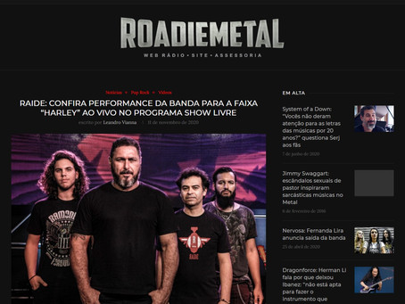 Matéria da RAIDE na ROADIEMETAL - NOV2020