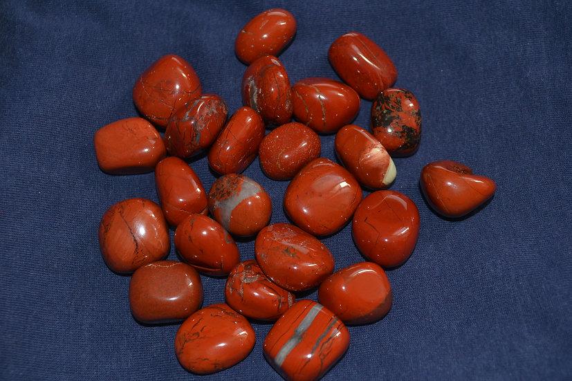 Pierres roulées jaspe rouge
