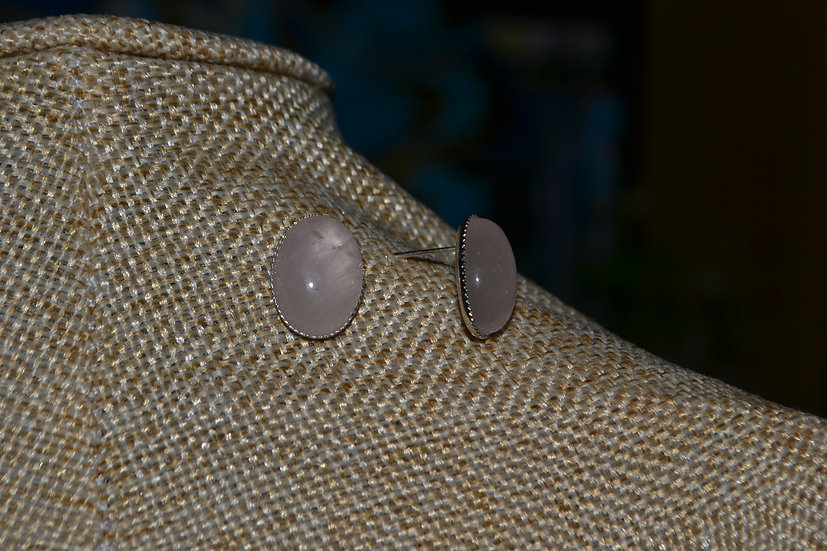 Boucles d'oreilles pierre 14x10mm
