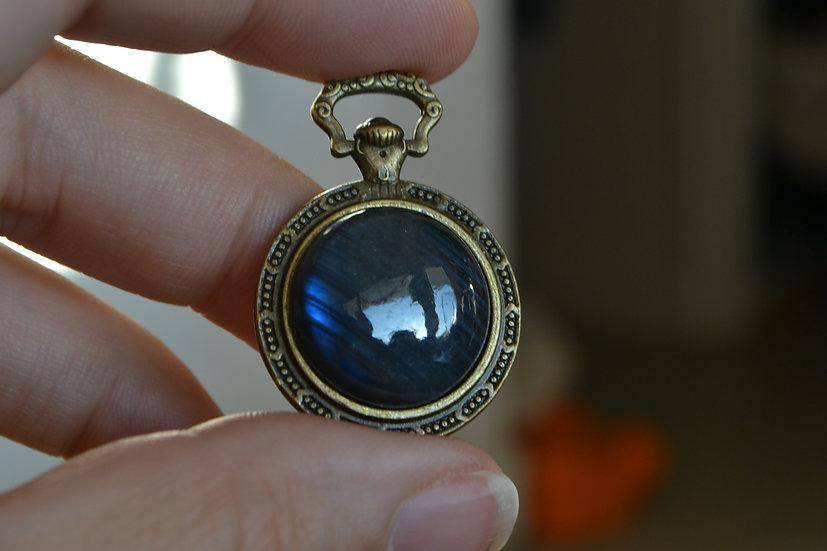 Labradorite bleue oeil de chat