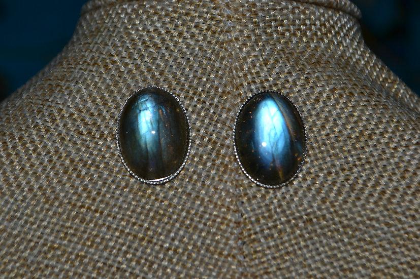 Boucles d'oreilles pierre 18x13mm