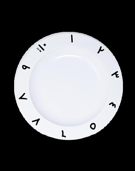 Arabic Numbers Plate