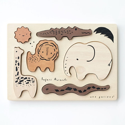 Wooden Tray Puzzle - Safari Animals