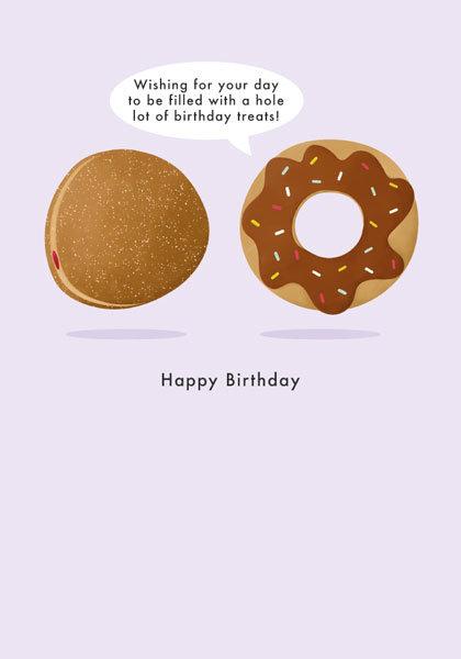 Doughnut Birthday Card