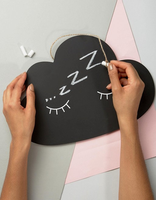 Sleepy Cloud Chalkboard