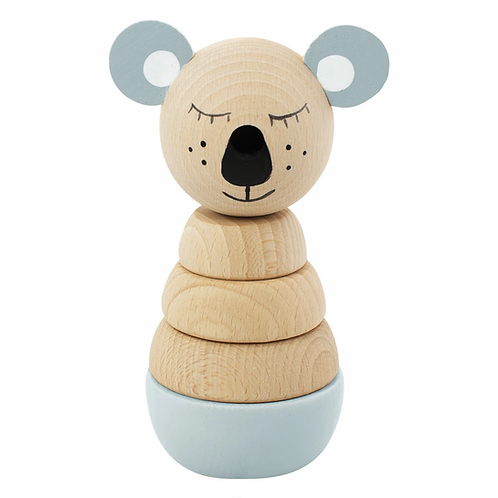 wooden koala stacker toy