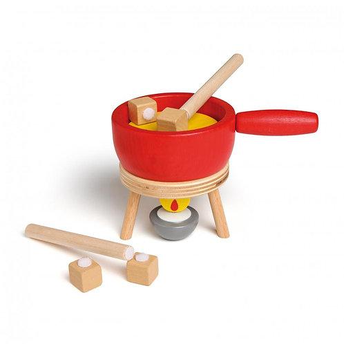 erzi singapore wooden play food cheese fondue set