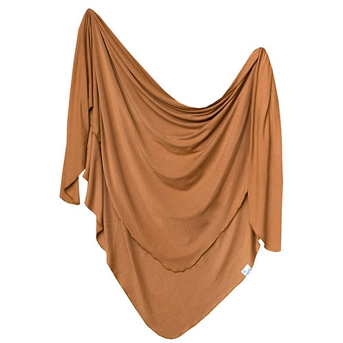 Camel Knit Blanket Single