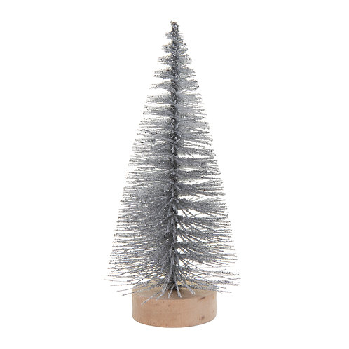 Small Frosty Christmas Tree Standing Decor
